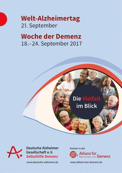 Plakat Welt-Alzheimertag